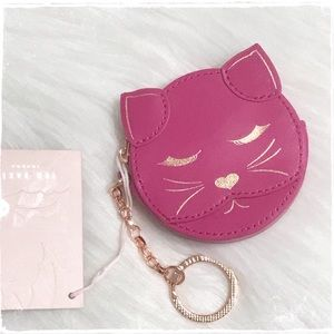 NWT! Ted Baker Cat Coin Purse Keychain Hot Pink